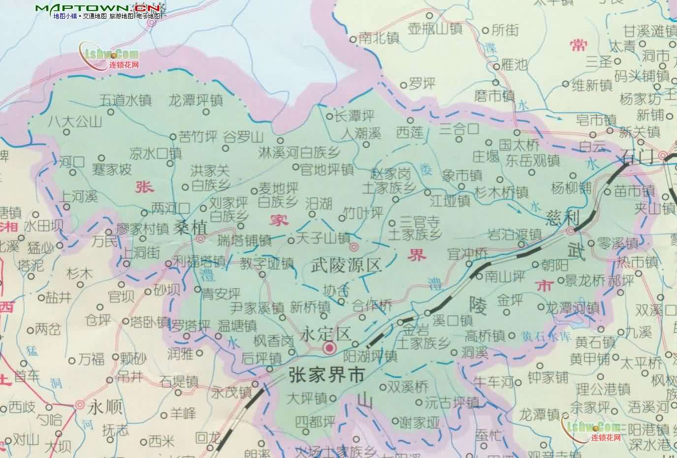 張家界市地図