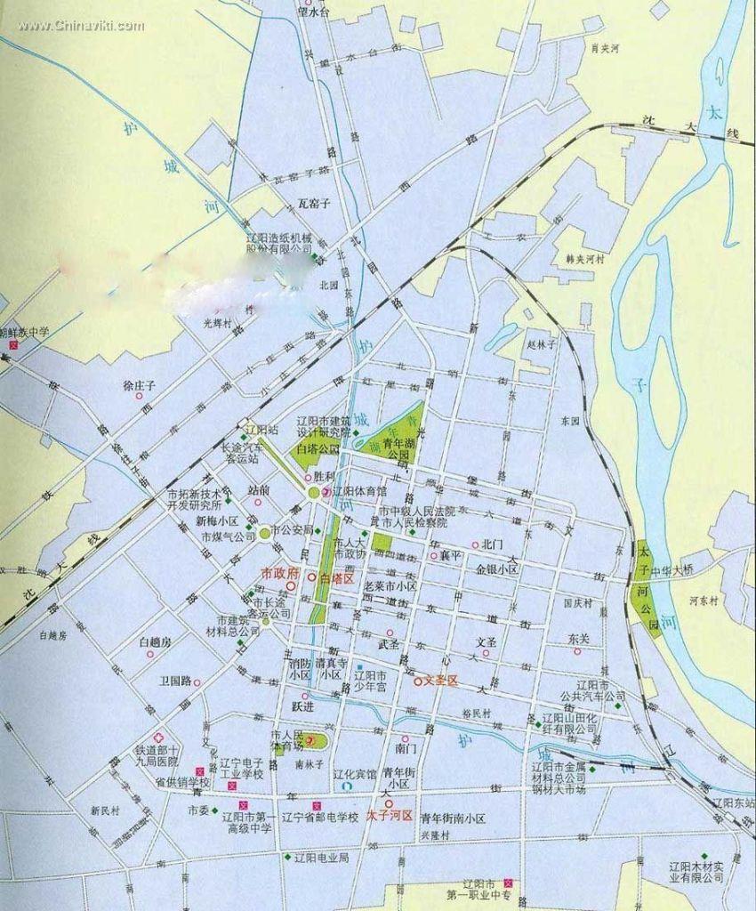 遼陽市市街地図_旅情中国