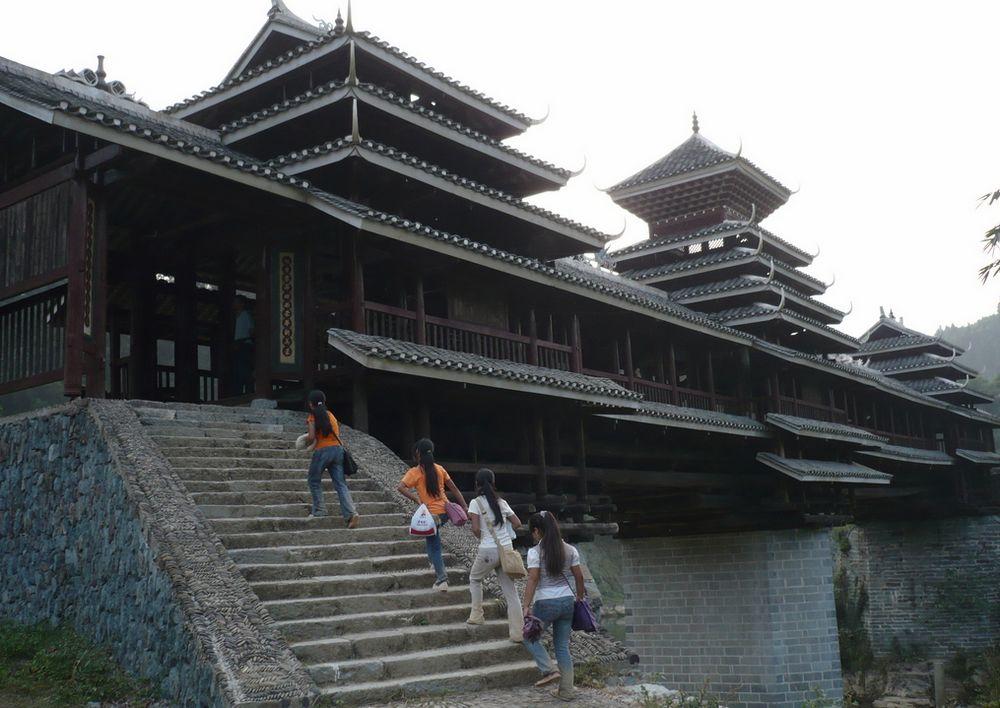 黎平県南端にあるトン族の风雨桥,地坪郷は贵州省黔东南苗族侗族